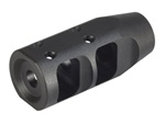 "JP Large-Profile Compensator for Bull Barrel, 1.2"" OD, Tapered to .750 Barrel with 5/8x24 TPI .350 exit"