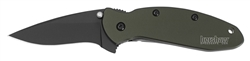 Kershaw Scallion - OLIVE,BLK Speedsafe