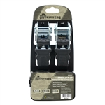 Mossy Oak Outfitters Ratchet Tie Down Set W/ Rubber Grips - 1200 lbs - 2 Pack