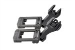 Strike Industries Sidewinder 45 degree back up iron sights