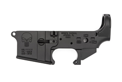 Spike's Tactical AR-15 Lower BLEM (Multi) Forged PUNISHER Stripped AR Lower-Bullet Markings