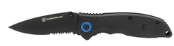 "Smith & Wesson Folding Knife 3.25"" Black Blade with Black Plastic Handle"