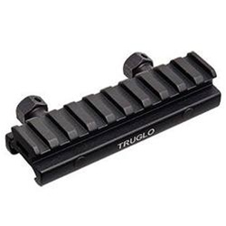 "Truglo 1/2"" Picatinny Riser Mount 4"" Long Black"