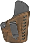 VersaCarry Compound Gen 2 Series Leather / Kydex IWB Holster - Distressed Brown - Right Hand