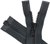 Zippers - 24 1-Way Separating - Black