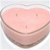 Heart soy candle