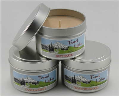 Soy candle travel tin (small) - 3 pack