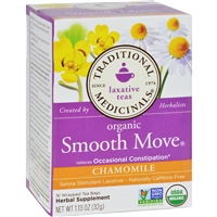 Traditional Medicinals Organic Smooth Move Chamomile Herbal Tea case
