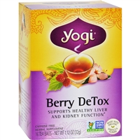 Yogi Detox Herbal Tea Caffeine Free Berry case
