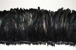 Coque Dyed Black Irridescent 8-10""