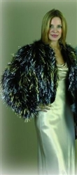 Marabou Jacket with Gold and Silver Lurex