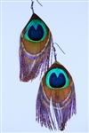 Peacock Earrings Cut