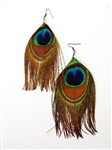 Peacock Earrings Uncut