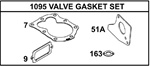 498529 Genuine Briggs & Stratton Valve Gasket Set
