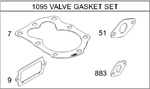 498531 - Genuine Briggs & Stratton Valve Gasket Set