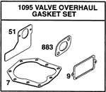498537 Genuine Briggs & Stratton Valve Gasket Set