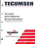 TECUMSEH 695933 Quick Reference Service Information
