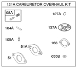 Genuine Briggs & Stratton 696146 Carburetor Overhaul Kit