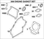715714 Genuine Briggs & Stratton Complete Gasket Set