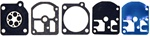 R13488  Carburetor Gasket & Diaphragm Kit Replaces Zama GND-7