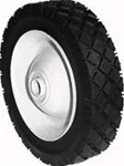 "R274 - 6"" X 1.50"" Steel Wheel with 1/2"" ID Ball Bearing (Diamond Tread)"