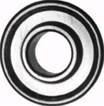 R325 - 1/2 X 1-3/8 Flanged Ball Bearing