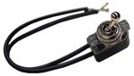 "R7020 Universal Toggle Switch with 2, 6"" wire leads for Go-Karts. 15/32"" mount"