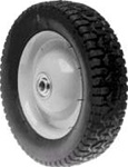 "R8262 - 8"" X 1.625"" Snapper 26182 and Tru-Cut 52060 Steel Wheel with 7/16"" ID Bearing (Radial Tread)"