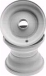 "R8379 - Universal Wheel with 2-3/4"" centered hub, painted white"