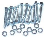 R916 Pack of 10 Snowblower Shear Pins & Lock Nuts Replace Ariens 510015