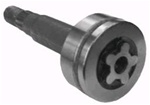 "9520 Spindle Shaft replaces AYP 137553 for 44"", 46"" & 50"" DECKS WITH STAR CENTER HOLE"