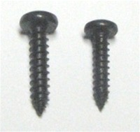 "8x3/4"" Black Phillips Head Screws for Woofers. Pack of 25"
