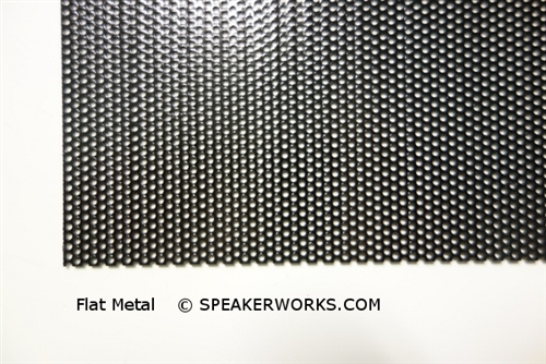 Custom Steel Speaker Grill Black: Made to Order Metal Speaker Grill Cover  in Black - CG10B