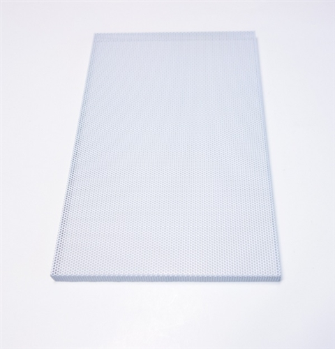 Custom Steel Speaker Grill White: Made to Order Metal Speaker Grill Cover  in White - CG10W