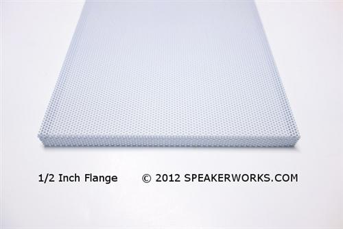 Custom Steel Speaker Grills In White Speaker Baffle