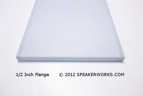 Custom Steel Speaker Grill White: Made to Order Metal Speaker Grill Cover  in White - CG8W