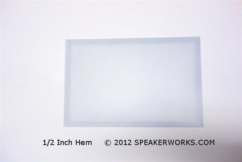 Custom Steel Speaker Grill White: Made to Order Metal Speaker Grill Cover  in White - CG2W