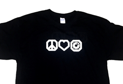 SpeakerWorks.com cool Peace Love and Speakers T-Shirts