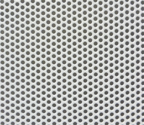 18 Quot By 40 Quot Sheet Of Perforated Steel Powder Coated White