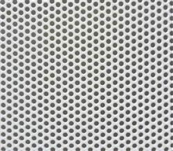 Perforated Steel Powder Coated White