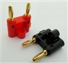 2 pcs Dual Gold Banana Plug Speaker Audio Connector