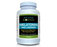 Melatonin 3mg Lozenges (Natural Peppermint) 60 Lozenges / Retail $16.90