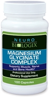 Magnesium Glycinate Complex - 100 Vegetable Capsules (Retail $19.90)