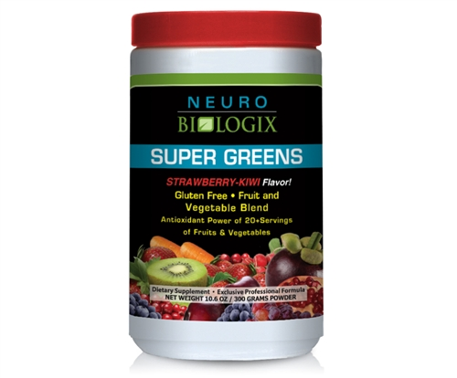 Super Greens Strawberry/Kiwi - ORAC levels equal to 20+ servings of fruits and vegetables! / Retail $49.90