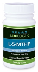 L-5-MTHF (L-5-Methyltetrahydrofolate) 60C (Retail Price $23.50) DISCONTINUED