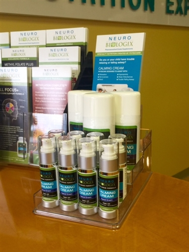 Calming Cream Countertop Display Package (6) 3oz bottles / (8) 1oz travel size cream