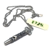 1928 Jewelry Company, whistle necklace, hand antiqued pewter, filigree, US made, made in the USA, pewter, 1928 pieces, B'sue by 1928, marcasite whistle, B'sue Boutiques, 1928/01458