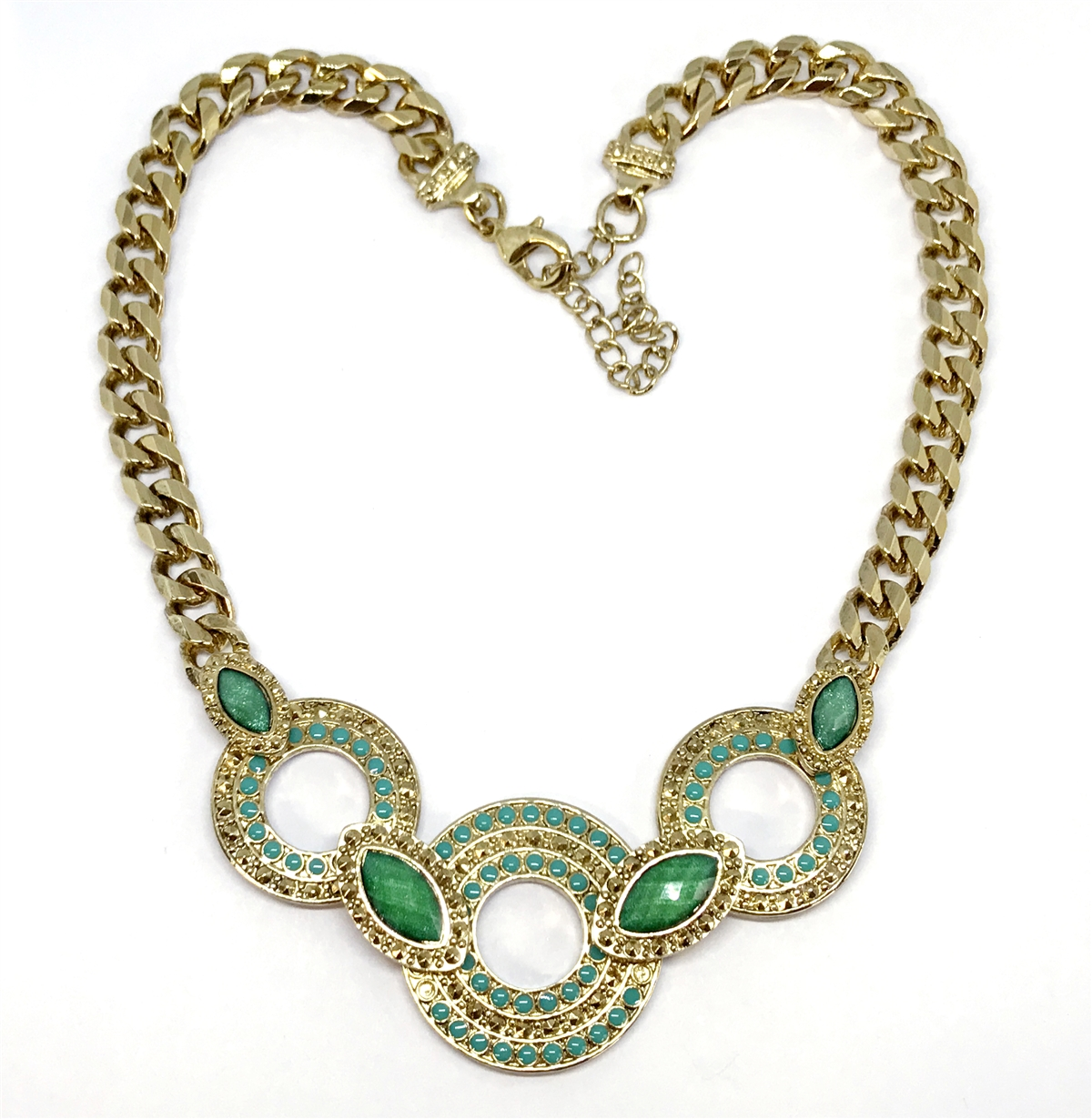 Cheap Price Vintage Choker Style Necklace Green Tones Necklaces & Pendants Fashion Jewelry