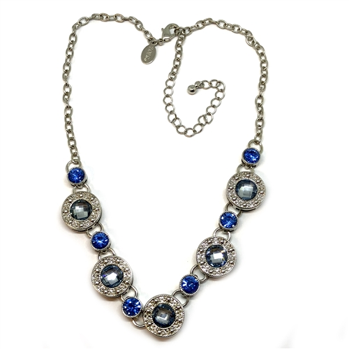 1928 Jewelry Company, imitation sapphire stud choker, gold plate, gold stud necklace, US made, made in the USA, pewter, reprise, 1928 pieces, B'sue by 1928,  B'sue Boutiques, 1928/05263