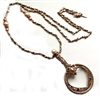 1928 Jewelry Company, heart magnifier, magnifier, magnifying necklace, rose gold, filigree, US made, made in the USA, pewter, reprise, rare, hard to find 1928 pieces, B'sue by 1928, rose gold with pearls, B'sue Boutiques, 3 inch magnifying glass